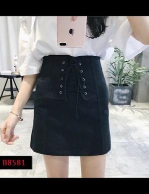 Chân váy ôm đan dây cá tính-B8581
