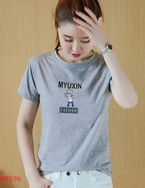 Áo thun nữ in chữ MYUXIN- B8596