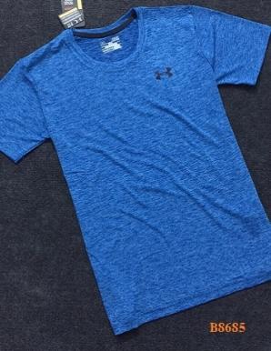 Áo thun nam cổ tim màu xanh da - B8685